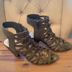 Vince Camuto Olive Green Wedge Sandals